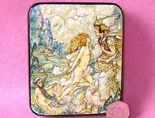 Russian LACQUER SHELL Box Small Harold Gaze Fairy Girl Knight I wake my dream