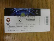 21/02/2012 Ticket: CSKA Moscow v Real Madrid [Champions League] (folded). Thanks