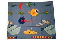 Pottery Barn Kids Pillow Sham Under The Sea Standard Fish Submarine Nautical