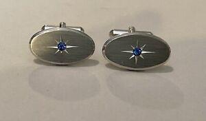 Platinum Sapphire Cufflinks