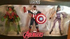 """Hasbro Marvel Legends AVENGERS TRU   3 PACK SAM WILSON/VISION/KATE BISHOP 6"""""""