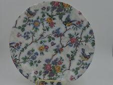 "Vintage Broadhurst Bros. Burslem Chintz Lorna Doone 9"" Dinner Plate/Deep Dish"
