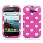 For Huawei Ascend Y H866C HARD Case Snap On Phone Cover Hot Pink Polka Dots