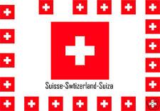 Assortiment 25 autocollants Vinyle stickers drapeau Suisse-Swtizerland-Suiza