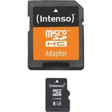Intenso micro SD Card 8gb class 4 incl. adaptador SD tarjeta de memoria