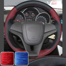 New Steering Wheel Covers Hand Sew Wrap for Chevrolet Cruze 2011-15 12 13 14