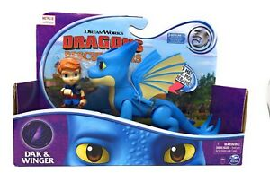 NEW Dreamworks Dragons Rescue Riders DAK & WINGER Sound Effects Dragon Netflix