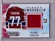 PIERRE TURGEON 16/17 Leaf Heroes & Prospects Memorabilia RED #15/15 Jersey Card