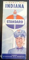 Standard Oil of Indiana Map - Indiana - early 1950's