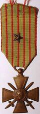 Decoration Croix de Guerre avec 1 etoile 1914-1917