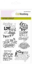 Craft EMOZIONI A6 Clear Stamp Set Compleanno-NEW HOME handlettering #1259