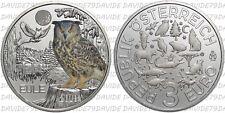 MONETE EURO AUSTRIA 2018 - 3 EURO - SERIE ANIMALI COLORATI - GUFO