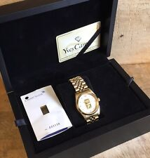 CREDIT SUISSE 9999 Solid GOLD INGOT Inset Gents Collector's Watch Boxed WORKING