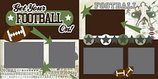 """Get Your Football On! Scrapbook Layout Kit (Two 12""""x12"""" pages)"""