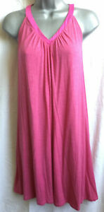 Womens fuchsia pink nightie full slip chemise nightwear underwear nightdress NEW