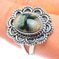 Ocean Jasper 925 Sterling Silver Ring Size 9.25 Ana Co Jewelry R55554F