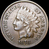 1878 Indian Cent Penny US Coin  ---- NICE Condition   ----- #D055
