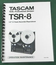 Tascam TSR-8 Operation Manual: Comb Bound & Protective Covers!