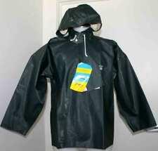 Grundens Brigg Hooded Commercial Fishing Jacket Parka Rain Gear Green 38