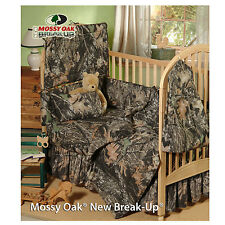 MOSSY OAK CAMO CAMOUFLAGE INFANT BABY CRIB BEDDING SET 3 PCS!! - COMFORTER SKIRT