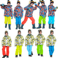 Kids Ski Suit Set Jacket and Pants Windproof Winter Outdoor Clothing Snow Suits