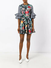 House Of Holland WOMAN floral gingham mini-dress