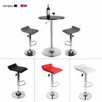 3 PCS Dining Set Bar Stools Pub Table Adjustable Swivel Counter Height Kitchen
