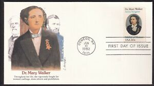 US 1982 FDC #2013 Dr Mary Walker Fleetwood Cachet Unaddressed 20c