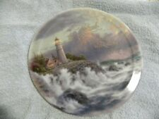 Thomas Kinkade 1st Issue Have Faith Series Collective Plate Conquering The Storm