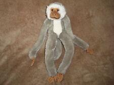"Animal Alley Hanging Grey & White Monkey Plush 2008 Geoffrey 17"""