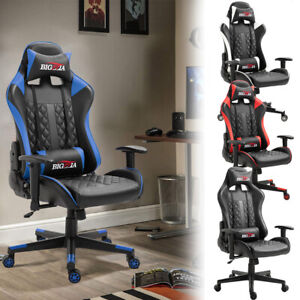 Executive Racing Gaming Design Office Chair Rock Lift Swivel Computer Desk Chair
