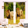 3D Lion Couple Blockout Photo Curtain Printing Curtains Drapes Fabric Window AU