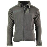 Genuine Austrian army thermal fleece jacket shirt jumper OD Olive
