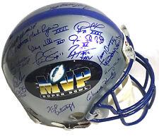 Super Bowl MVP signed 18 auto Pro Helmet INS Joe Namath Ray Lewis holo COA