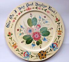 Vintage Rosemaling Platter Per Lysne Signed Stoughton, Wisconsin Folk Art