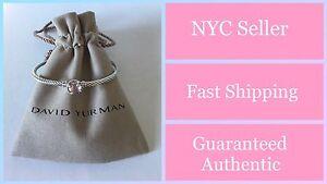 David Yurman Chatelaine Bracelet With Morganite 925 Sterling Silver 3mm