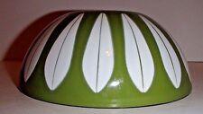 "Catherineholm Lotus Metal Green Bowl Enamelware mid century 7"""
