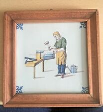 TICHELAARS ROYAL MAKKUMER  Kachel gerahmt ++ Handwerker Motiv ++ 16 x 16 cm