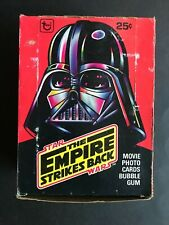 STAR WARS TRADING CARD VINTAGE TOPPS EMPTY BOX THE EMPIRE STRIKES BACK CARDS