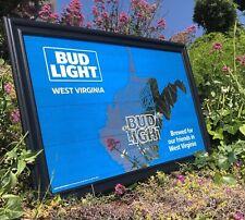 Bud Light West Virginia Map Beer Bar Mirror