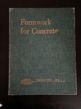 Formwork For Concrete By M.K. Hurd, Second Edition Hard Cover