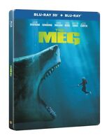 The Meg Limited Edition Steelbook 3D + 2D Blu Ray