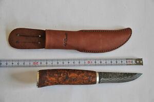 Roselli Messer Puukko DAMASTSTAHL- carpenter's knife, SILVER - RD310 S NEU unben