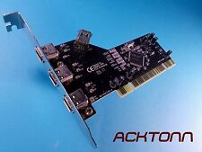 NEC 1394P3 PCI-e 3 Port Desktop Fire Wire Card ACKTONN
