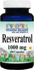 Resveratrol 180 Capsules 1000MG Polygonum Cuspidatum Anti Aging Diet Supplement