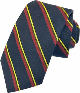 Lifetime Guarantee Royal Marines Regiment Woven Striped Tie RM Made In GB