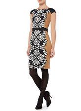 NEW House Of Fraser Linea Designer Brown Smart Pencil Dress Size UK 22 BNWT