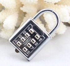 4-stellige Push Button Kombination Vorhängeschloss Gepäck Travel Code Lock RW