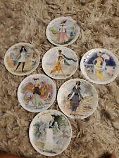 1 Limoges Premier Edition Fashion Design femme Collectors Plates, Cs 744, 1947