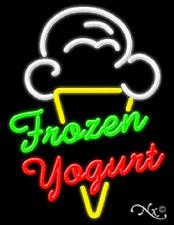 "New"" Frozen Yogurt"" 31x24 W/Logo Real Neon Si 00004000 Gn w/Custom Options 11715"